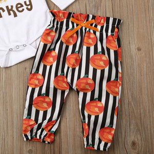 Cutest Little Turkey Romper Set