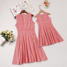 Load image into Gallery viewer, Plaid Red Bow Sundress (mommy & me)