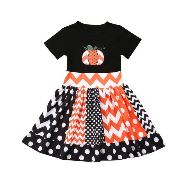 Modern Pumpkin Dress