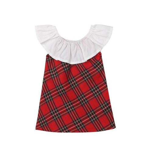 Cape Collar Christmas Dress