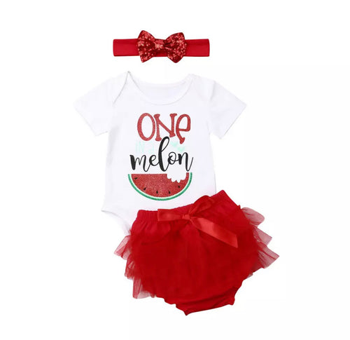 One Red Melon Romper Set