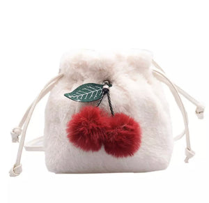Plush Cherry Cross-Body Purse
