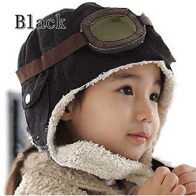 Pilot Aviator Warm Hat (Black)