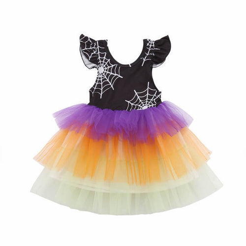 Rainbow Spider Web Dress