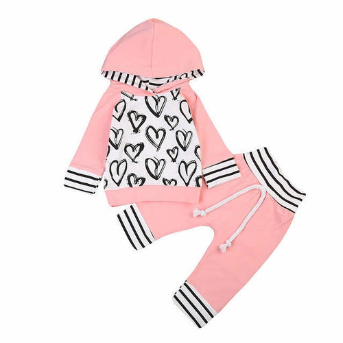 Pink Heart Jacket Set