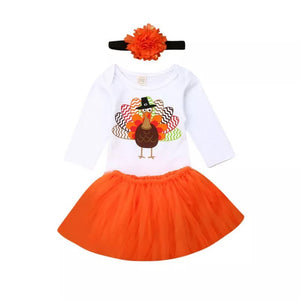 Curious Turkey Romper Tutu Set