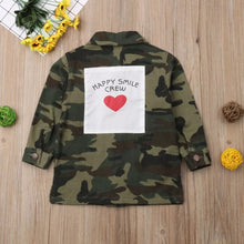 Load image into Gallery viewer, Happy Smile Crew Camouflage Coat