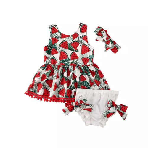 Watermelon Forrest Little Sister Dress