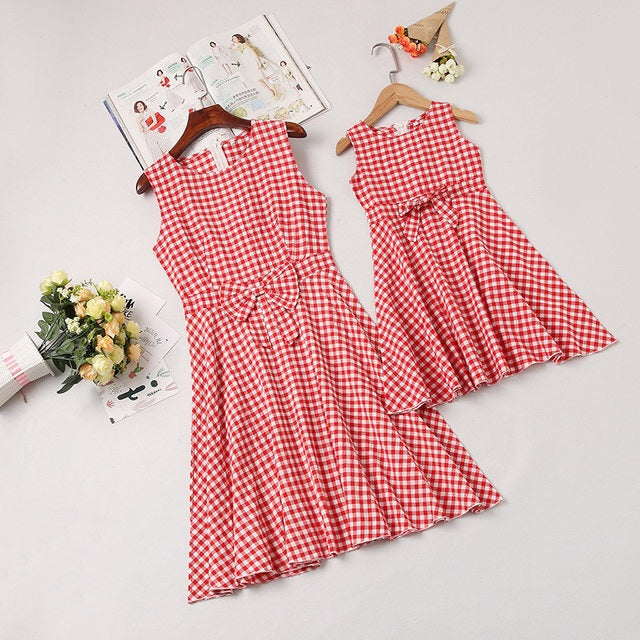 Plaid Red Bow Sundress (mommy & me)