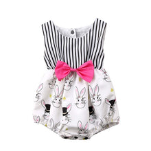 Load image into Gallery viewer, Striped Bunny Romper