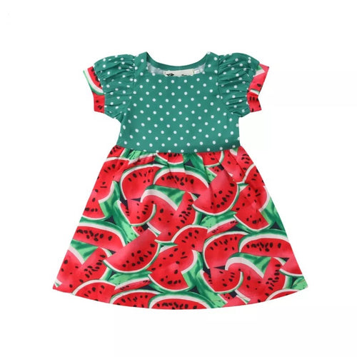 Polka Dot Watermelon Dress