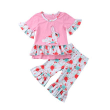 Load image into Gallery viewer, Bunny Sassy Pant Pink Set