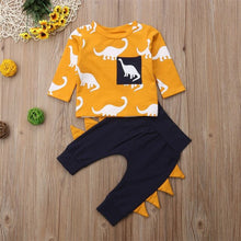 Load image into Gallery viewer, Yellow Dino (Shirt + Pant)