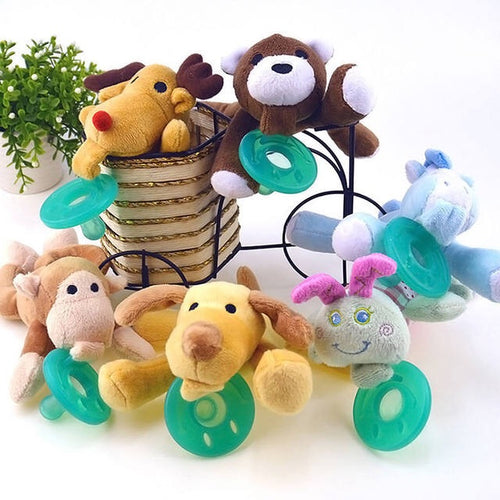 Lovely Infant Pacifiers with Plush Animal