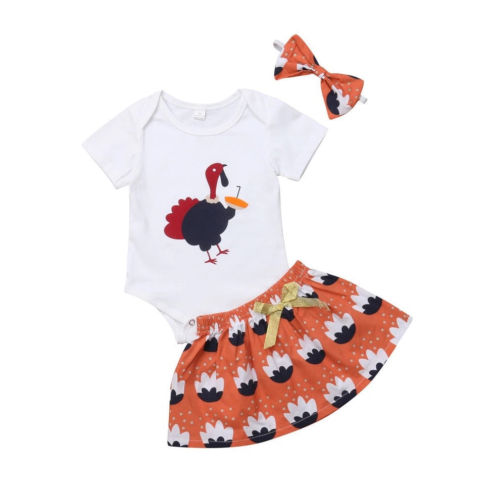 Thirsty Turkey Romper Set