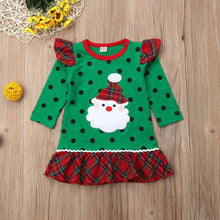 Load image into Gallery viewer, Green Santa Dress