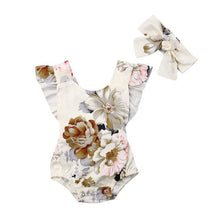 Load image into Gallery viewer, Oriental Floral White Romper