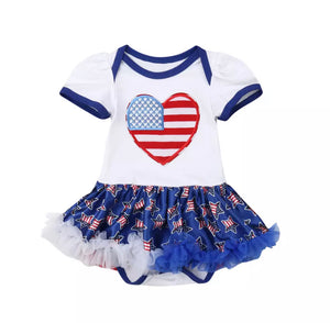 "I Love USA Romper Dress ""White"""