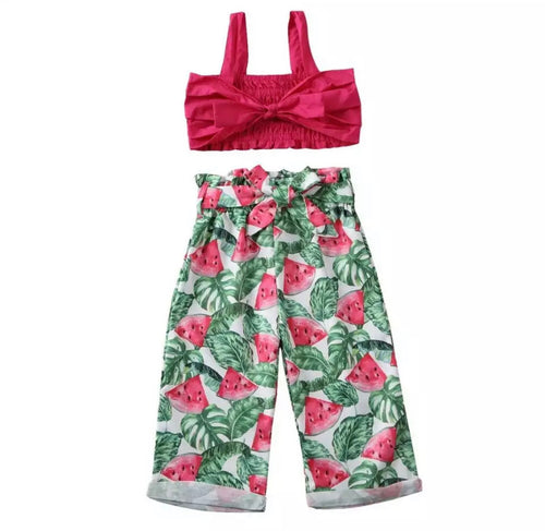 Melon Print Summer Princess Set