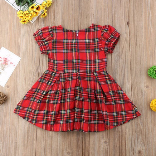 Red Plaid Princess Dress