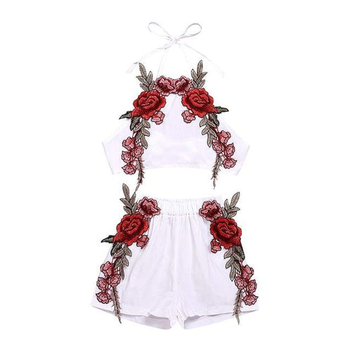 Summer Floral Fashion Set (White)
