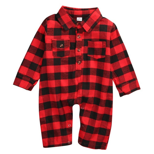 Red Plaid Fashion Onesie