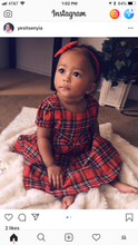 Load image into Gallery viewer, Red Plaid Princess Dress