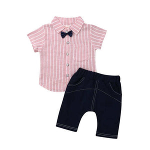 Pink Striped Classy Summer Set