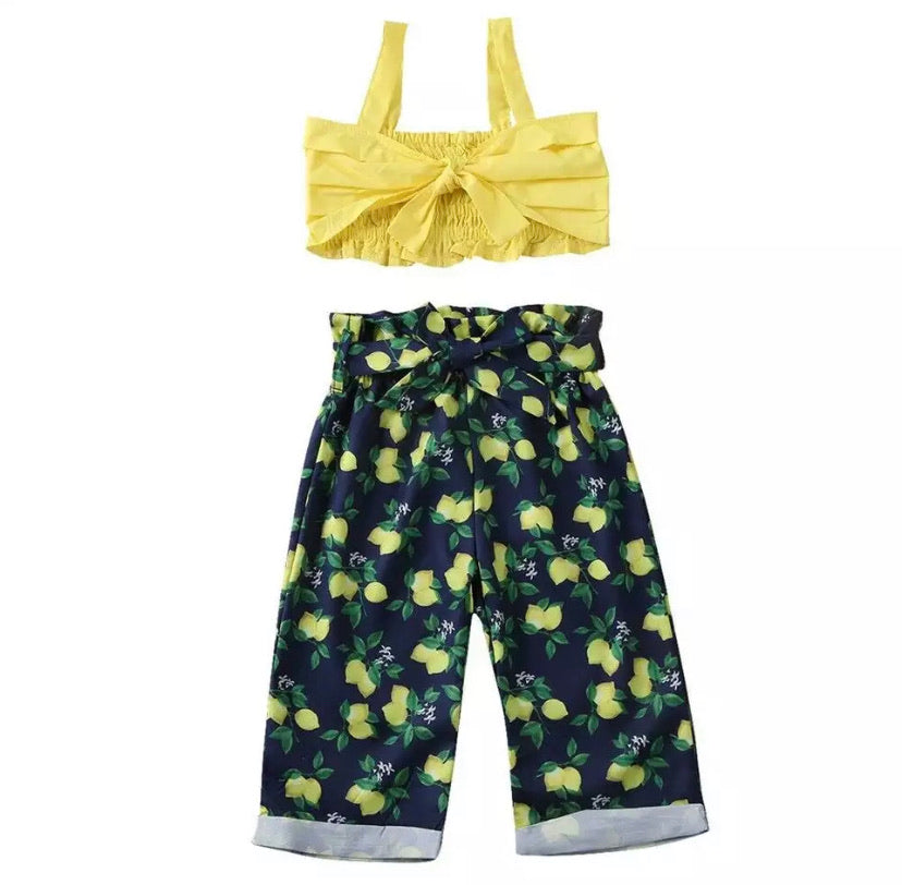 Lemon Print Summer Princess Set