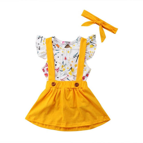 Bright Floral Summer Dress Set