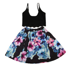 Load image into Gallery viewer, Black Top Floral Dress (mommy & me)