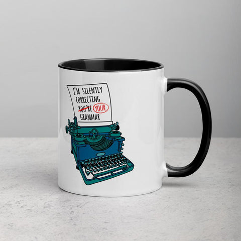 I'm Silently Correcting Your Grammar Mug (Color Inside)