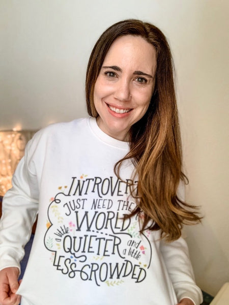 Introverts Just Need Their World a Little Quieter and Less Crowded Fleece Pullover