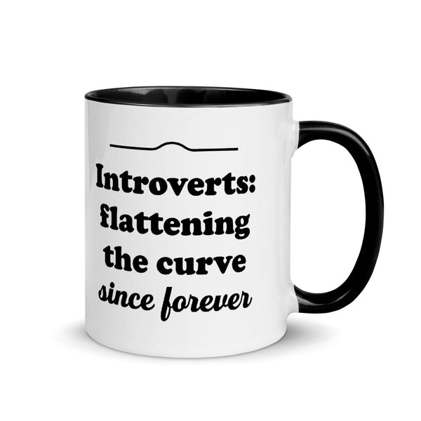 Introverts: Flattening the Curve Since Forever Mug
