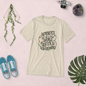 Introverts Just Need Their World a Little Quieter and Less Crowded Vintage Tee