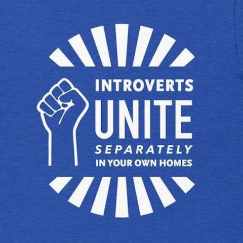 Introverts Unite Separately in Your Own Homes Tee