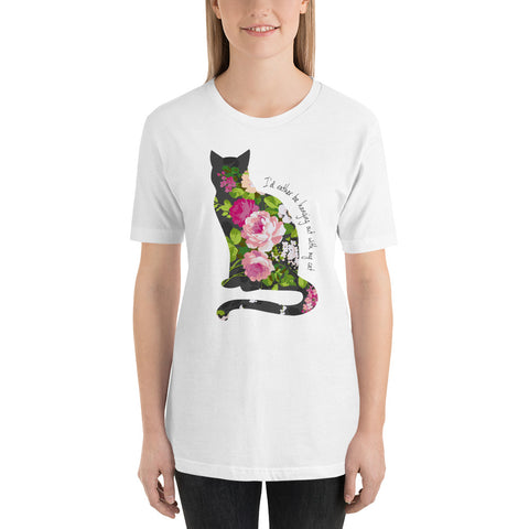 I'd Rather Be Hanging Out With My Cat Peony Tee