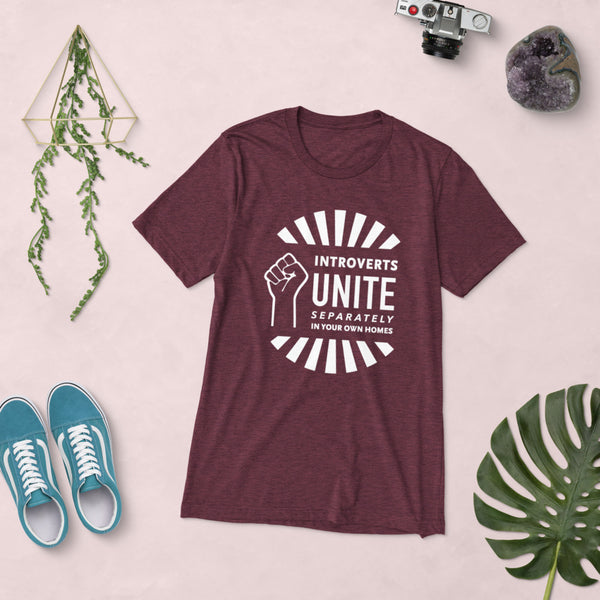 Introverts Unite Separately in Your Own Homes Vintage Tee