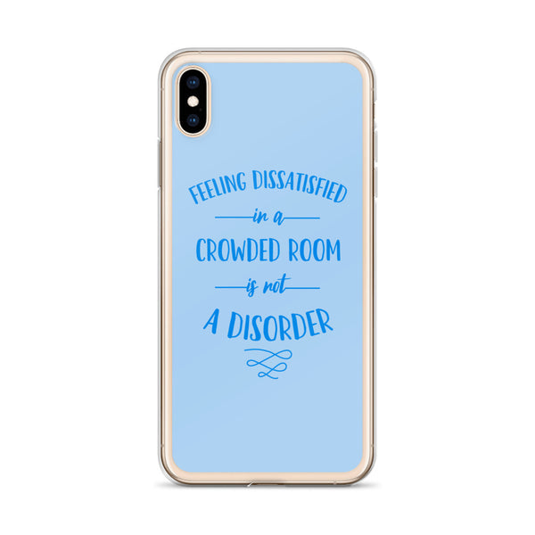 Not a Disorder iPhone Case (blue)