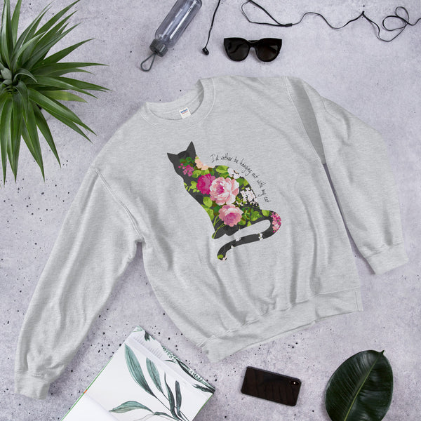I'd Rather Be Hanging Out With My Cat Peony Sweatshirt