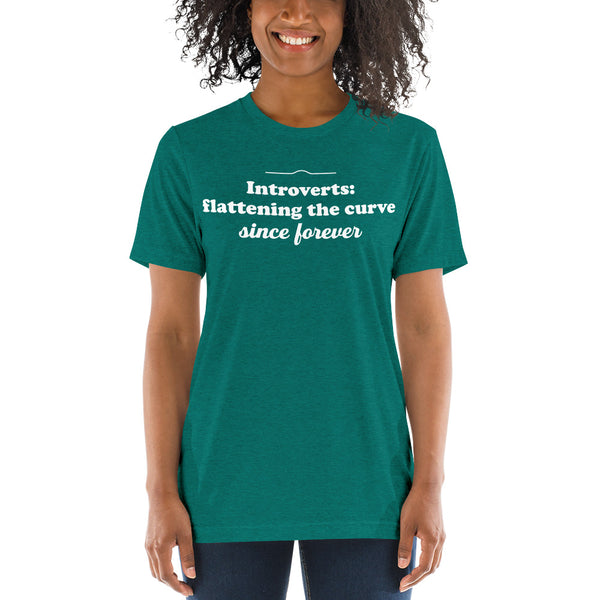 Introverts: Flattening the Curve Since Forever Vintage Tee