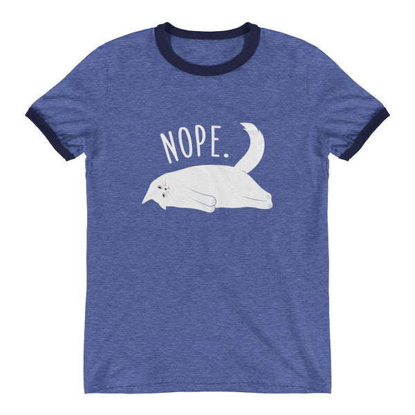 Nope Cat Women's Fitted Tee