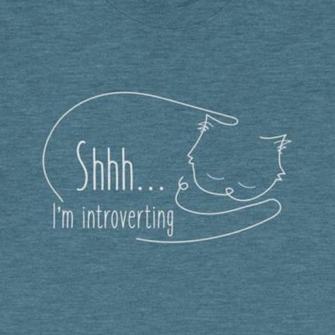 Shhh I'm Introverting Cat Tee