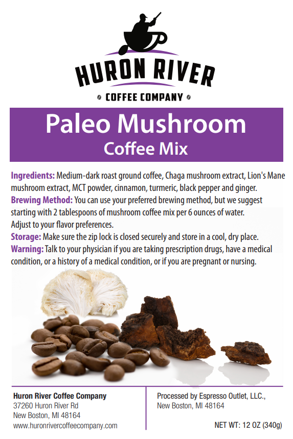 Paleo Mushroom Coffee Mix with Superfood Elixir