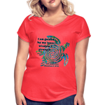 Wisdom & Strength - Women's Tri-Blend V-Neck Tee - Fiercely Fem