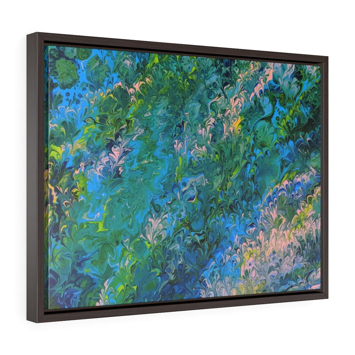 Rhapsody in Blue - Horizontal Framed Premium Gallery Wrap Canvas - Fiercely Fem