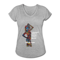 Queen - Women's Tri-Blend V-Neck T-Shirt - Fiercely Fem