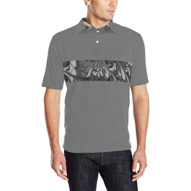 Fiercely Shades of Gray Colorblock - Men's Polo Shirt (Various Color Options) - Fiercely Fem