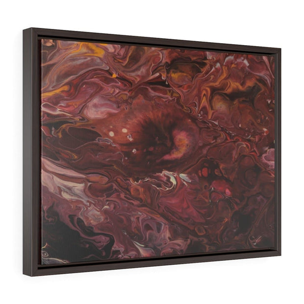Scarlet Vibes - Horizontal Framed Premium Gallery Wrap Canvas