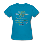 Worth - Women's Basic Tee - turquoise